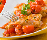 Cernia in salsa mediterranea