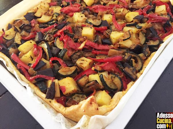 Torta salata di verdure con cumino e curcuma