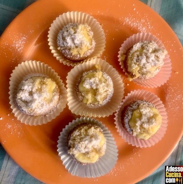 Cupcakes mimosa alla crema d