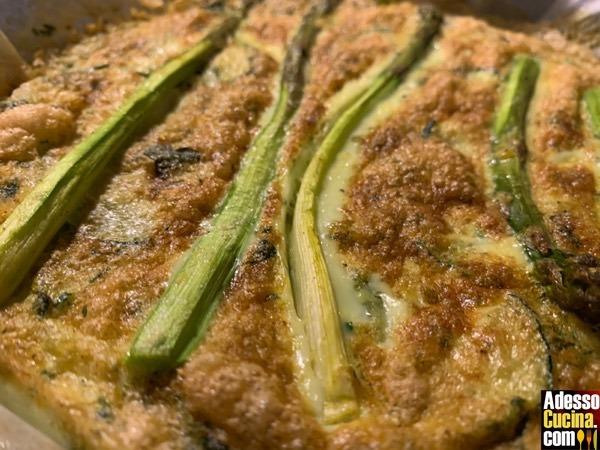 Frittata di albumi con verdure al forno